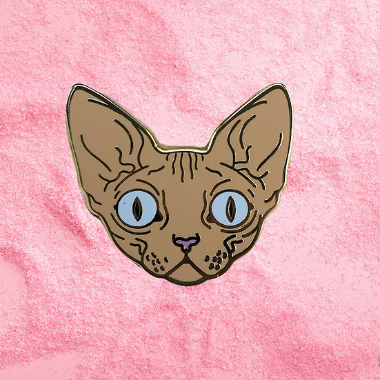 Spyhnx Cat Face Enamel Pin