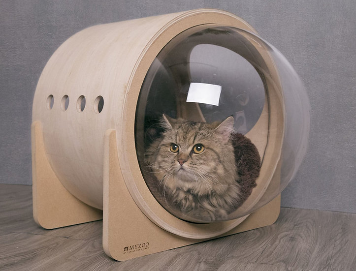 MYZOO Spaceship Alpha (Oak) Cat Bed