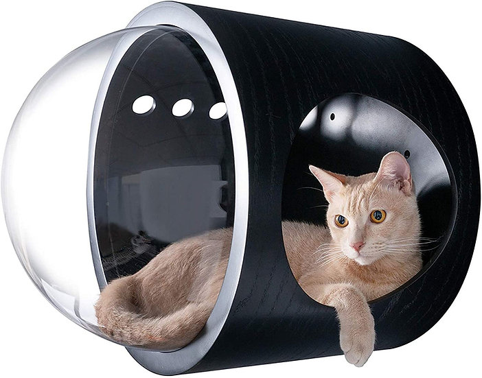 MYZOO Spaceship Gamma (Black) Wall Mounted Cat Bed