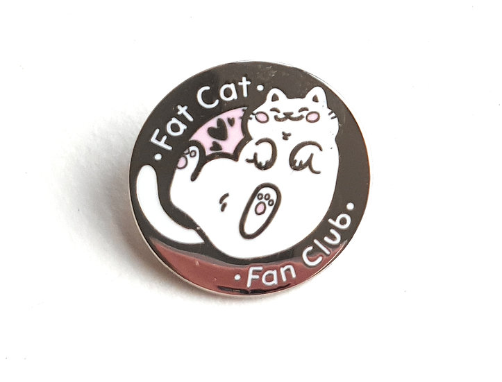 Fat Cat Fan Club Enamel Pin