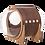 Thumbnail: MYZOO Spaceship Alpha (Walnut) Cat Bed