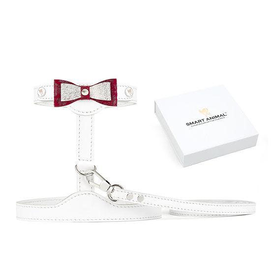 Smart Animal Cat Harness & Leash Set - Prestige Collection (White)