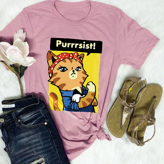 Purrsist Cat Women's T-Shirt