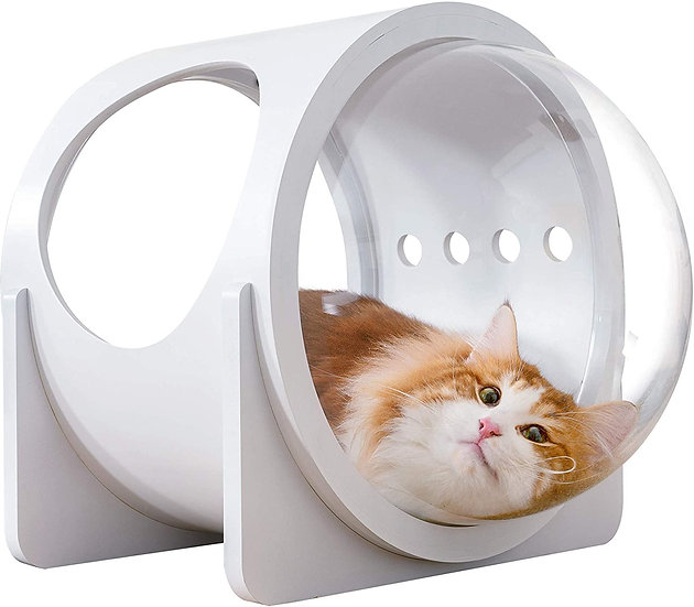 MYZOO Spaceship Alpha (White) Cat Bed