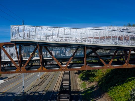 The Grand Avenue Park Bridge Opens to Pedestrians