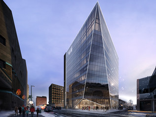 A Glacier-Inspired Building to Revitalize A Downtown Core