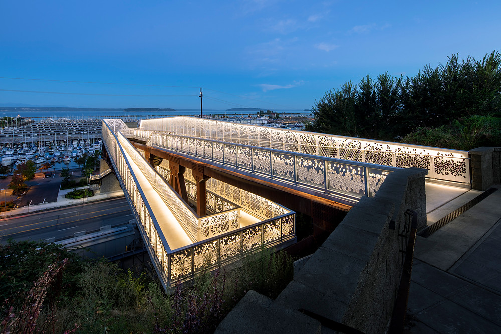 Grand Avenue Park Bridge, LMN Architects, Everett, Washington