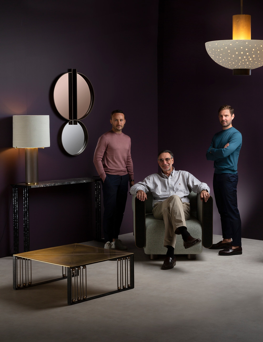 Christophe Poyet, Jacques Rayet&Emil Humbert with Metamorphosis furniture and lighting collection.