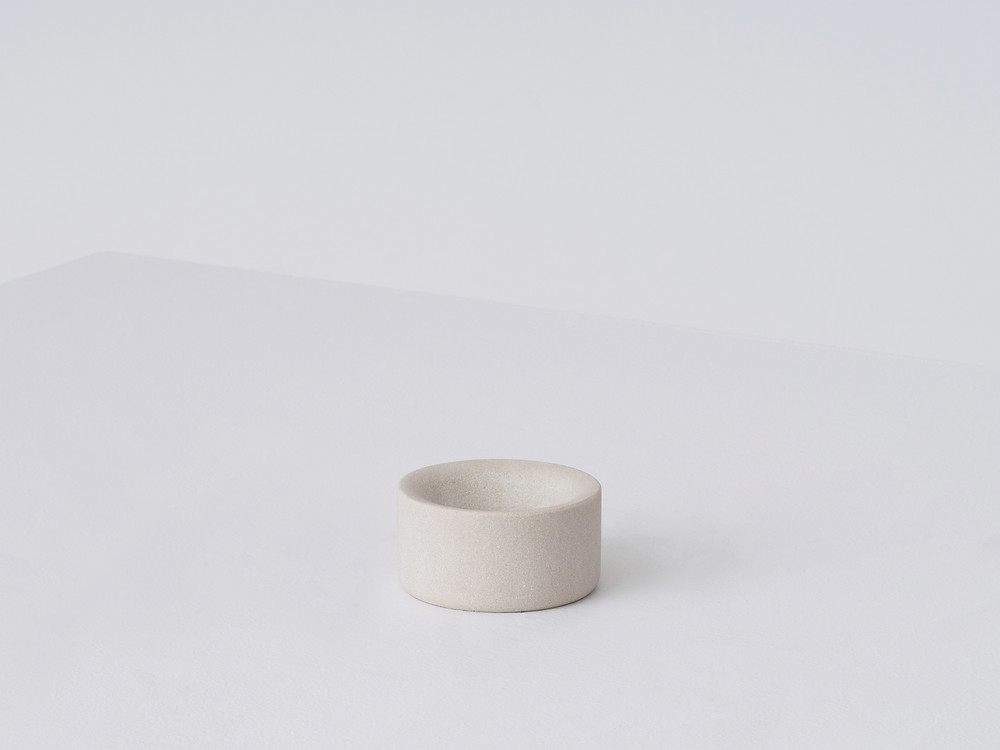 The Lithic small bowl in mint sandstone designed by Studio Gorm for EQ3.
