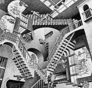 Relatividad de MC Escher