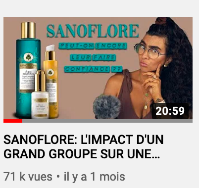 Sanoflore : clean ou pas ?