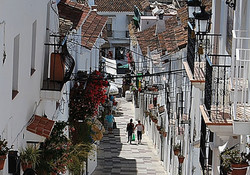 Most photographed street in Mijas