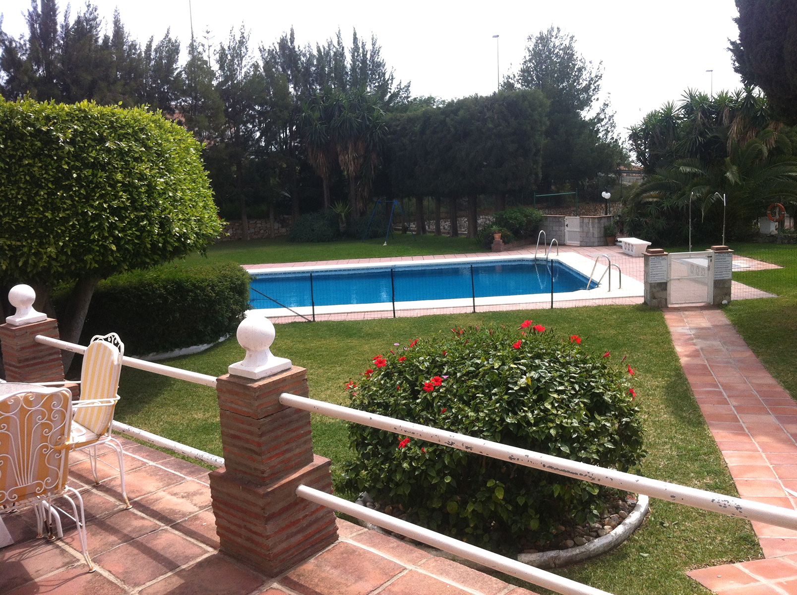 Pool within 15 metres from terrace