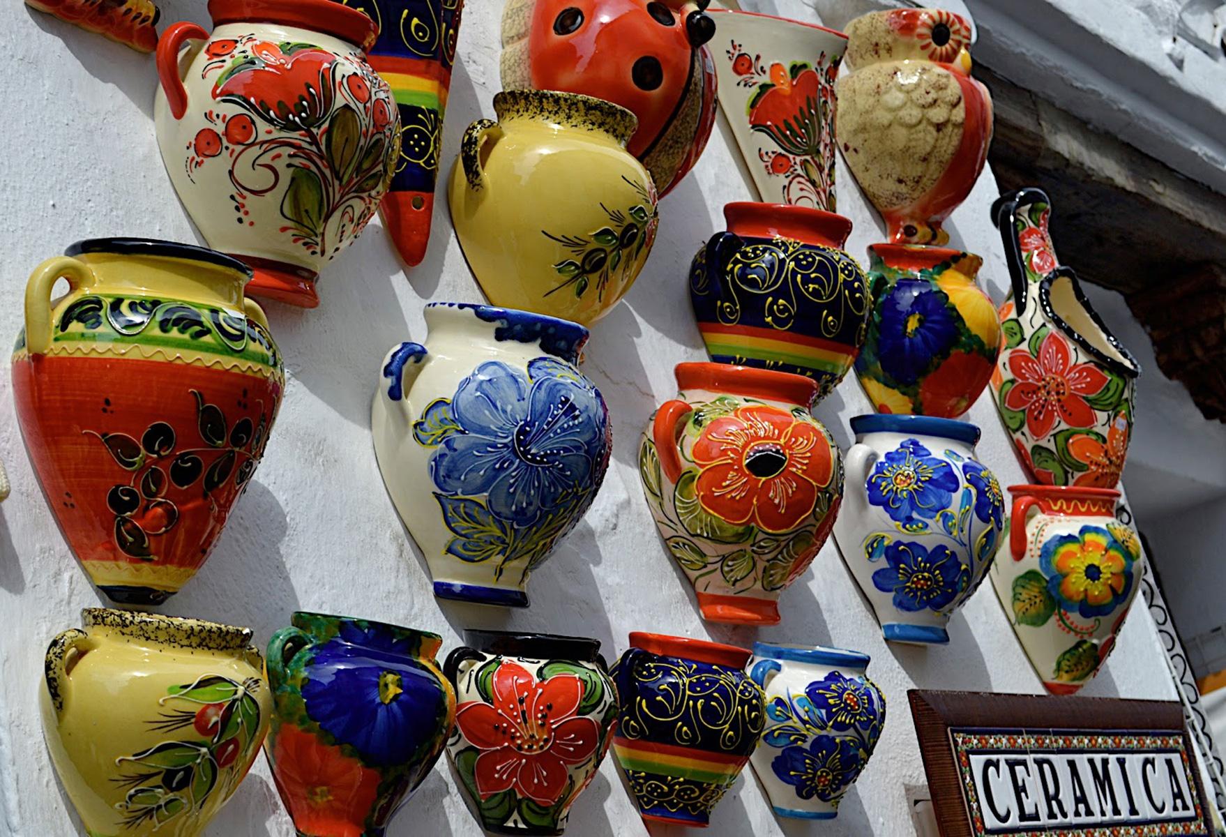 Mijas Village/Pueblo - wall pots