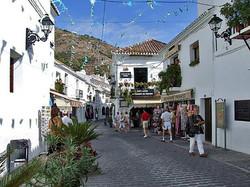 Mijas Village Pueblo cobbled street