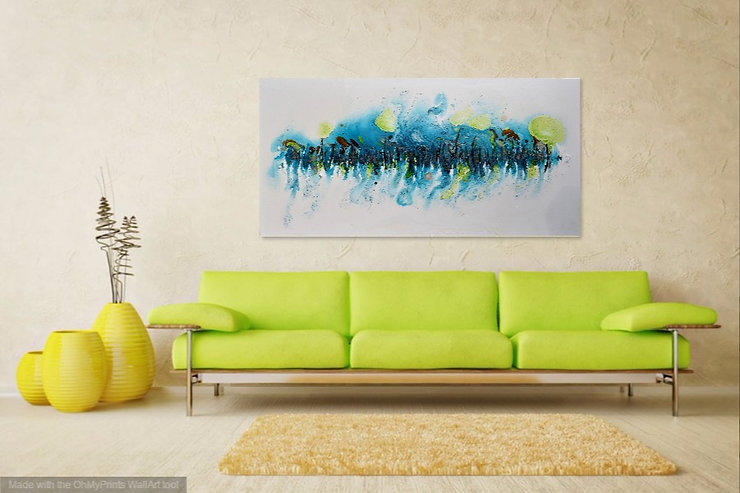 Mangrove, Vibrant modern abstract in acrylic and oil on canvas.