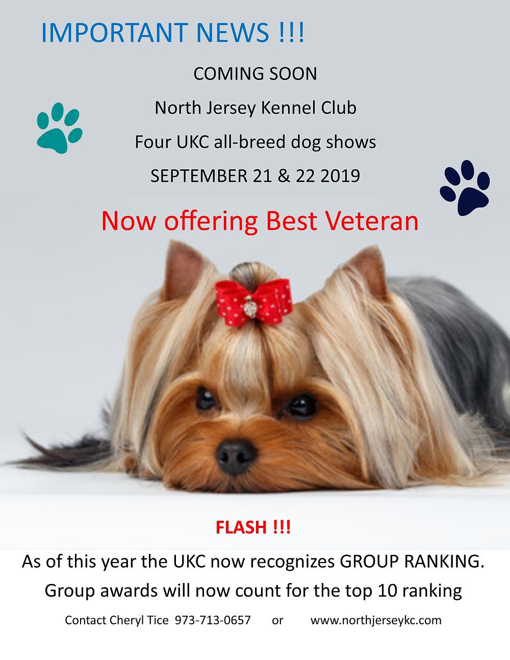 UKC dog shows in NJ