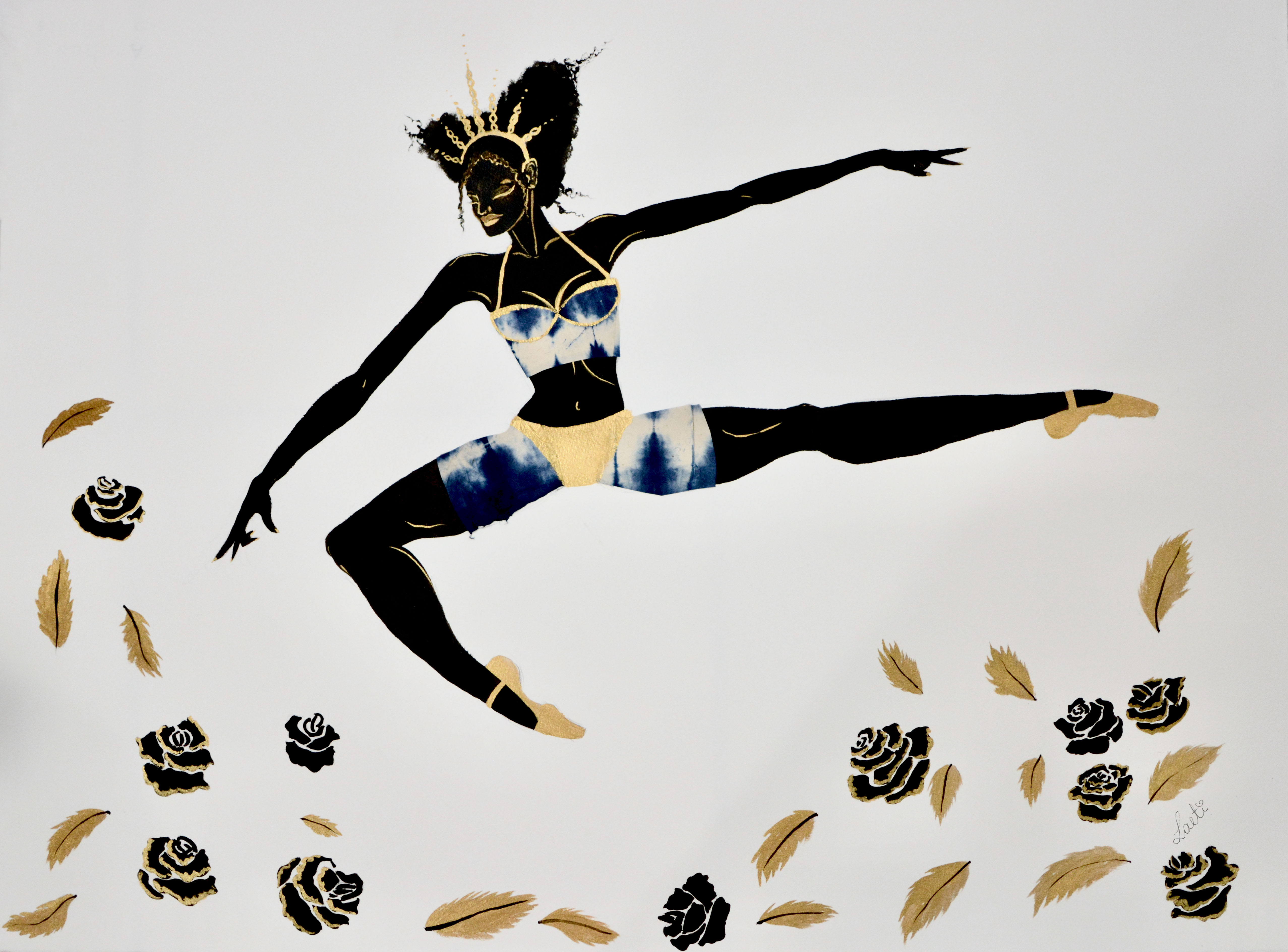 Black Figure: Leaping Dancer