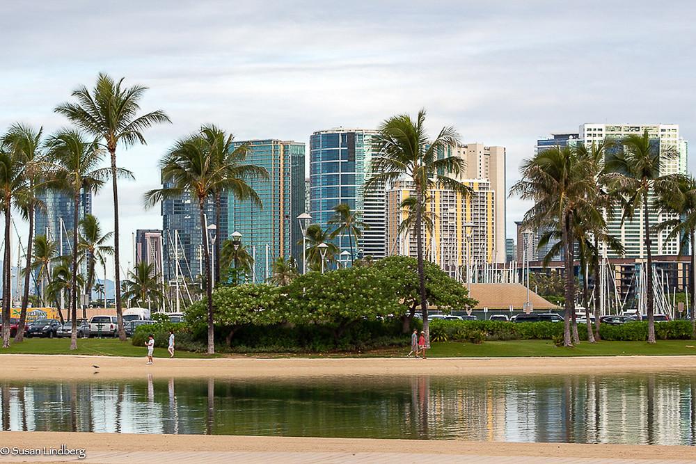 Kahanamoku Lagoon, Waikiki Beach, Honolulu, Hawaii