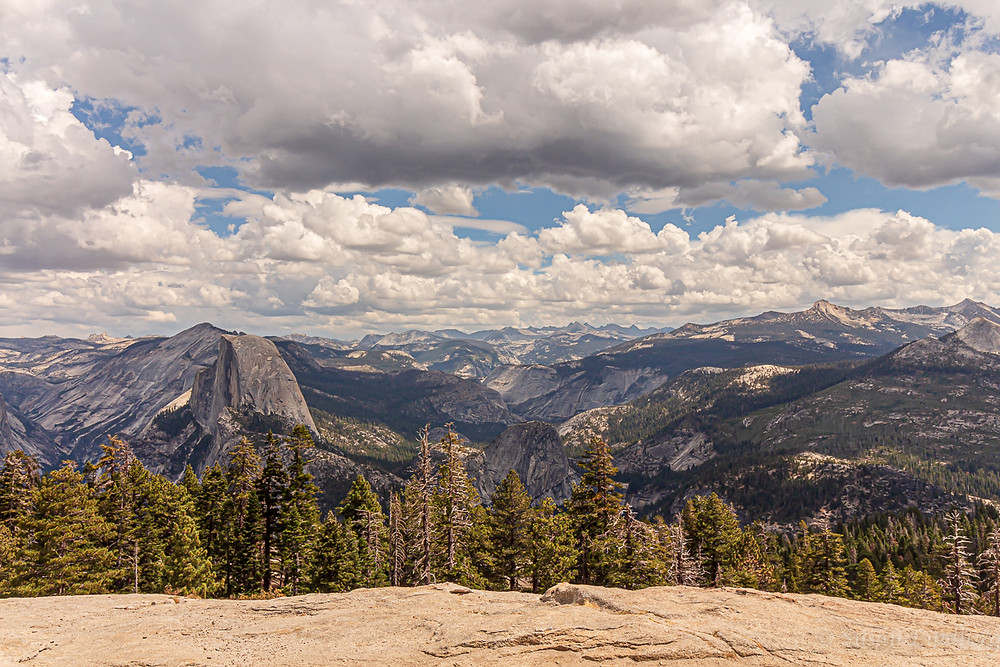 Yosemite, California.  Half Dome, Sentinel Dome, travel, vacation, mountains, wilderness, nature, photography