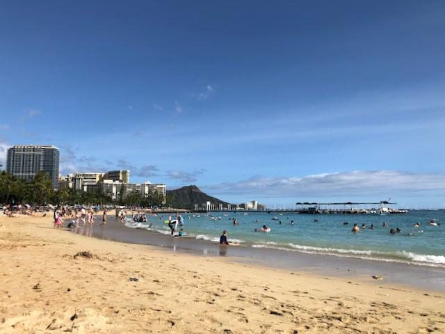 Kahanamoku Beach part of Waikiki Beach, Honolulu, Hawaii