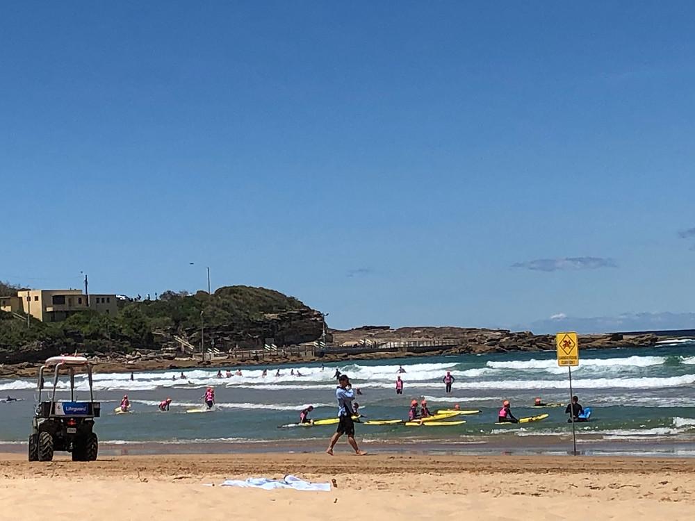 freshwater beach, freshwater, australia, dune buggy, surfers, swimming, beach, waves