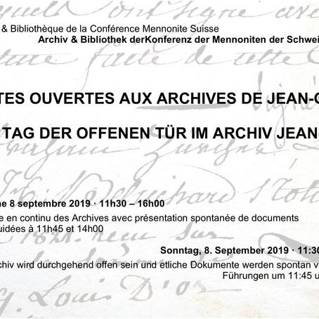 8.9.2019 - portes ouvertes aux archives