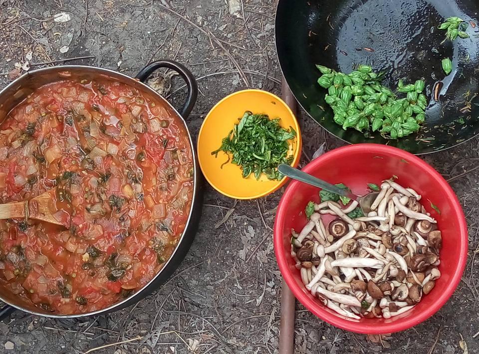 ליקוט עם יתיר פסטה ברוטב עגבניות וצלפים