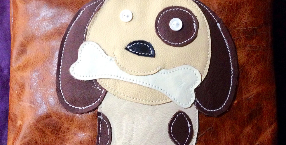 Dog Medium Distressed Leather