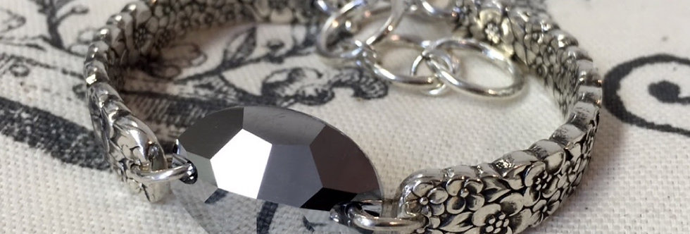 Spoon Bracelet Metallic Silver