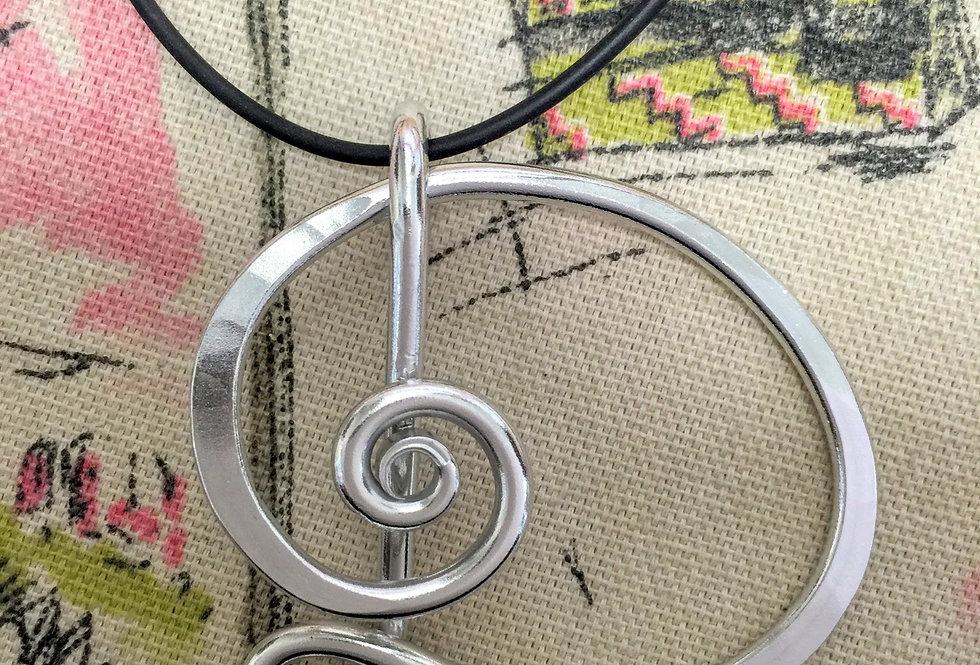 Aluminum Initial Necklace