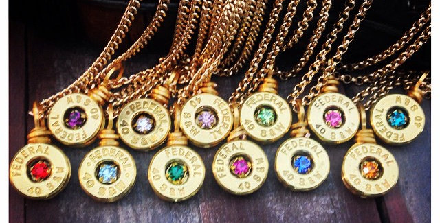 Birthstone Single Bullet Necklace