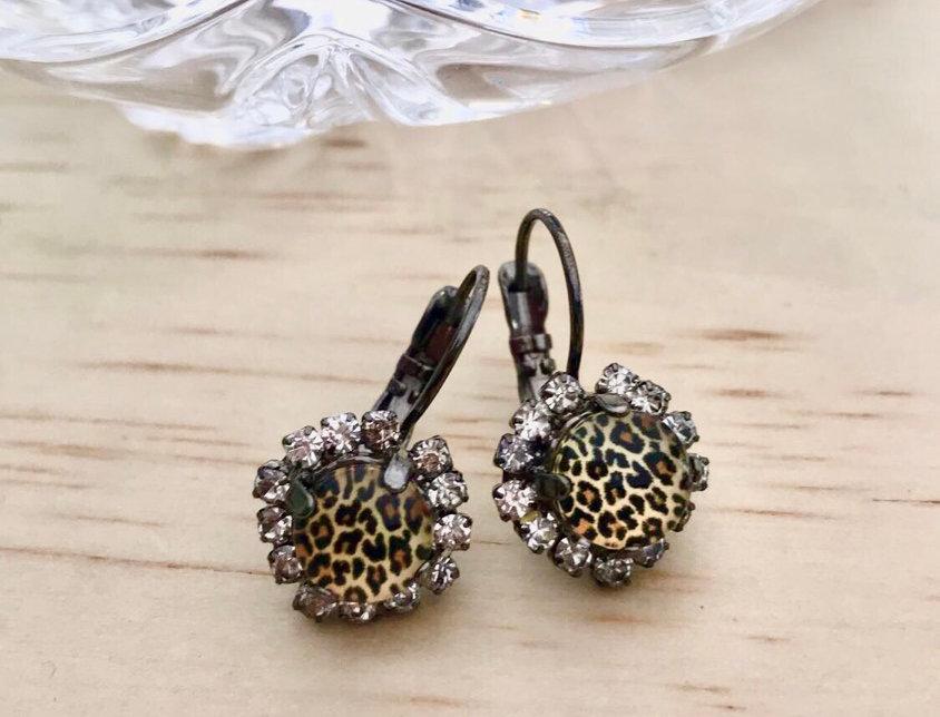 Swarovski Leopard Earrings