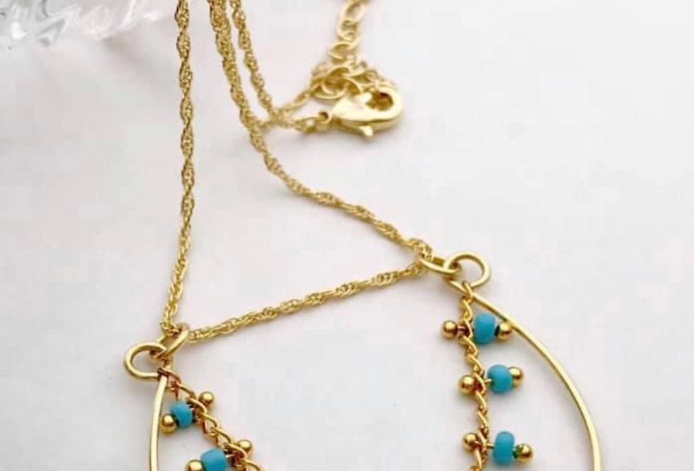 "Golden Turquoise ""Mareya"" Necklace"
