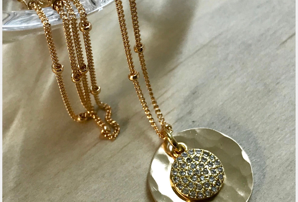 Pave Inner Peace Necklace