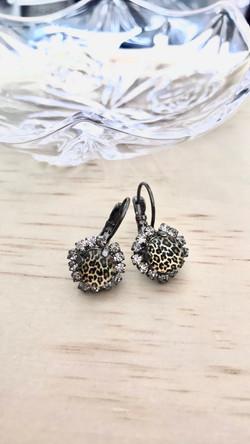 Leopard 8mm Earrings