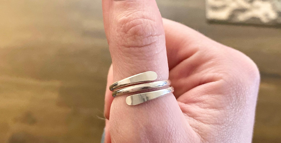 Sterling Wrap Ring Double