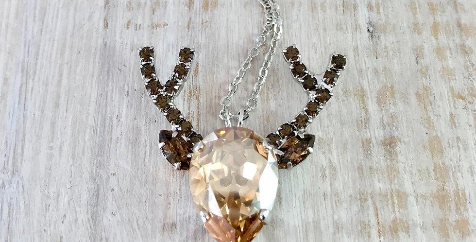 Deer Crystal Necklace