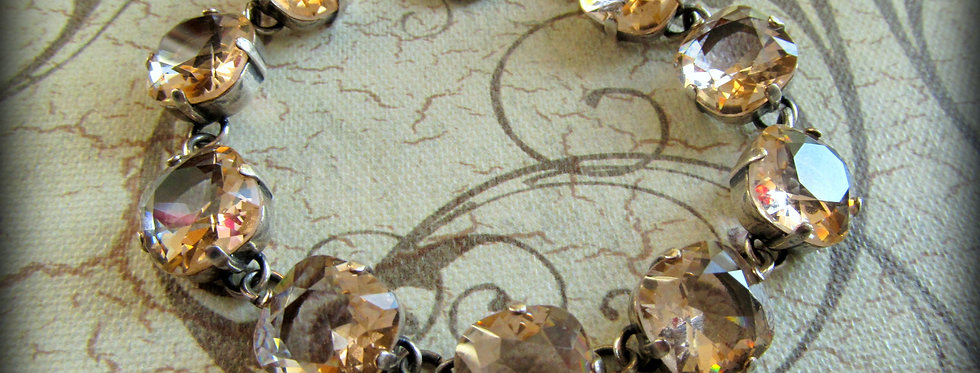 Swarovski Crystal Bracelet Vintage Rose