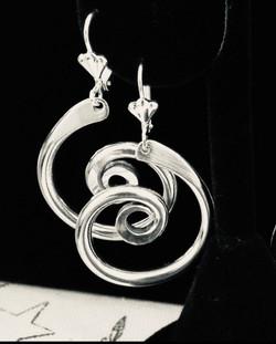 Aluminum Spiral Earrings