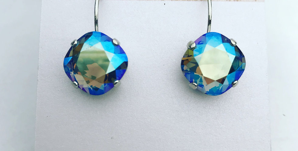 Swarovski Sapphire Shimmer Earrings