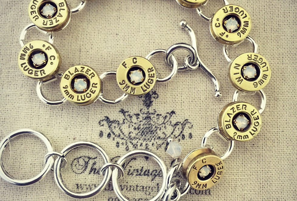 Bullet Channel Set Bracelet