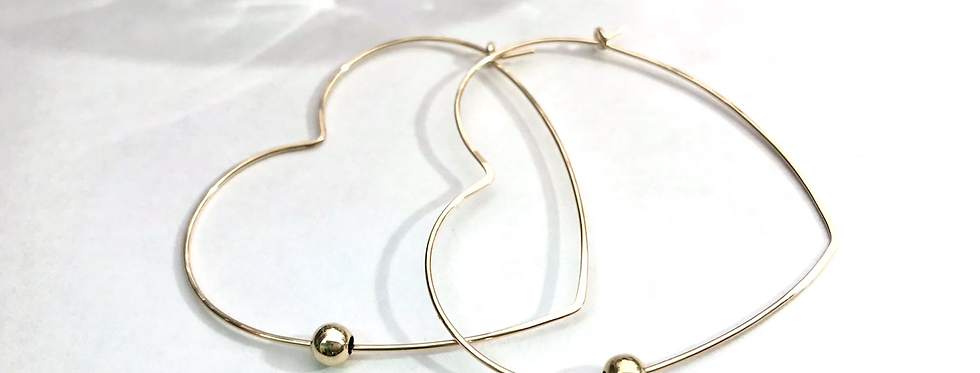 My Heart Gold Hoops