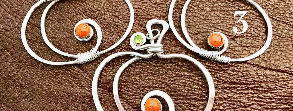 Aluminum Pumpkin Necklace