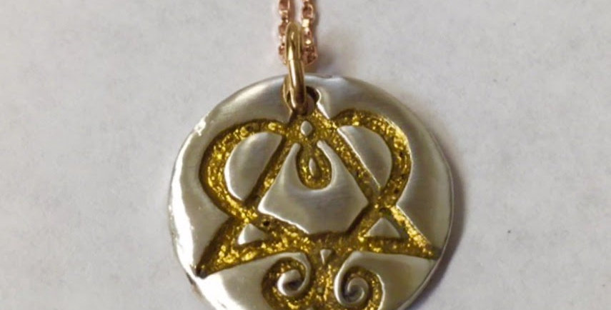 Adoption Charm Wax Seal Silver & Gold