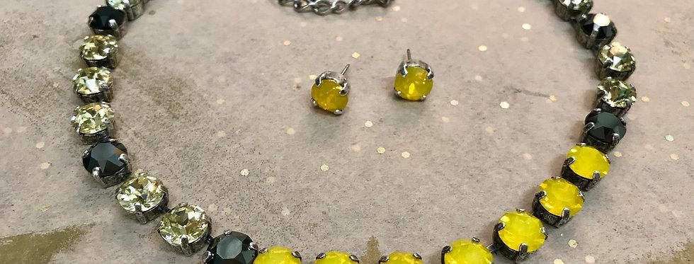 Sun Goddess Swarovski Necklace w/earrings