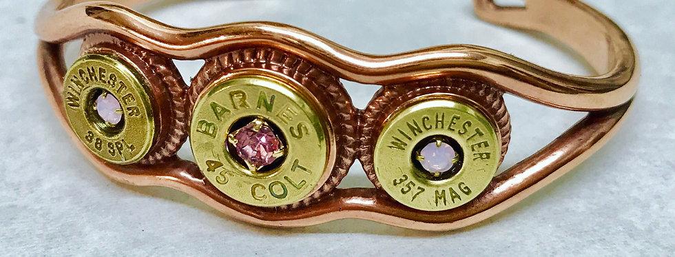 Copper waves bullet bangle