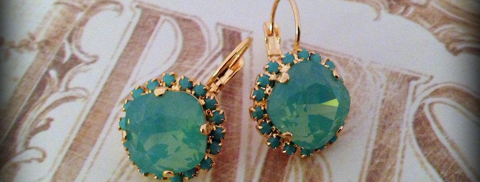 Elise Earrings in Pacific Opal