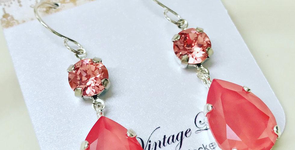 """Pear Swarovski Earrings """"As seen on Jane The Virgin"""""""