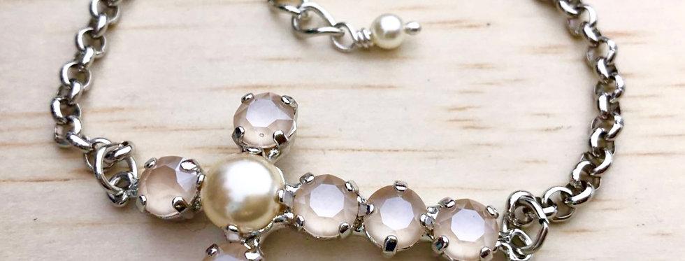 Swarovski Sideways Cross Bracelet